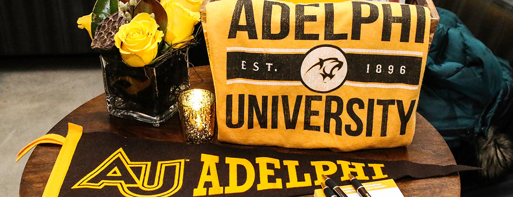 Adelphi Sweatshirt and Banner